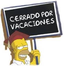 letrero vacaciones